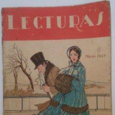 Coleccionismo de Revistas y Periódicos: LECTURAS, MARZO DE 1928. Lote 85314476