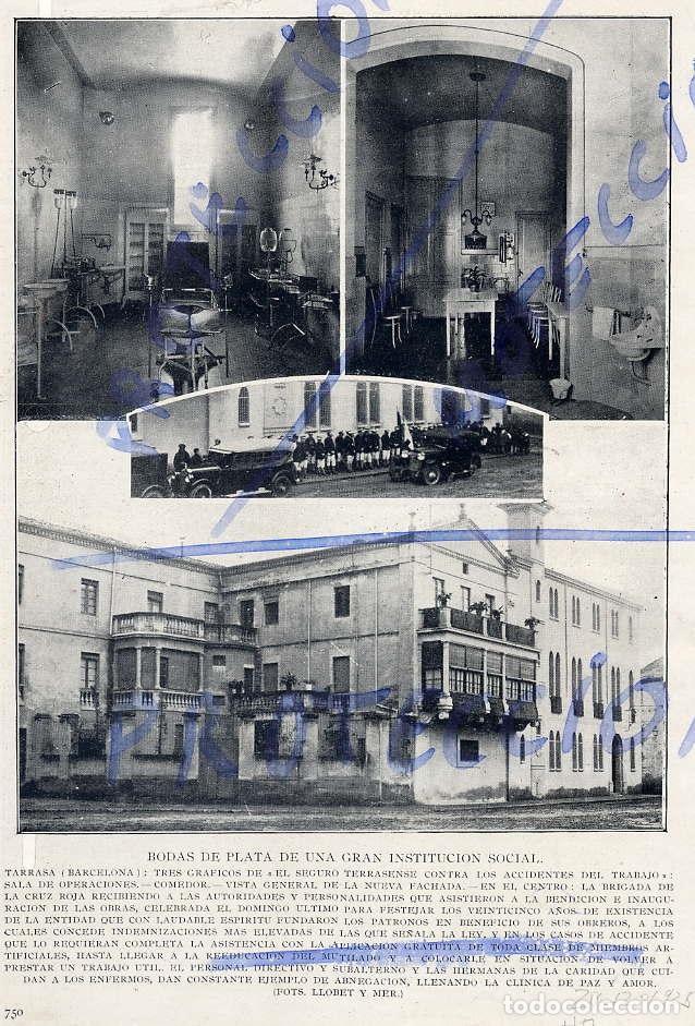 TARRASA 1925 SEGURO TERRASENSE LOCAL HOJA REVISTA (Coleccionismo - Revistas y Periódicos Antiguos (hasta 1.939))