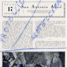 Coleccionismo de Revistas y Periódicos: SAN ANTONIO ABAD 1925 HOJA REVISTA. Lote 85394672