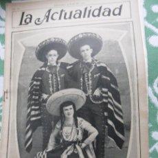 Coleccionismo de Revistas y Periódicos: ACTUALIDAD,LA (REVISTA SEMANAL ILUSTRADA) Nº 305 ARTÍCULOS Y REPORTAJES BARCELONA 8 DE JUNIO DE 1912. Lote 85409500