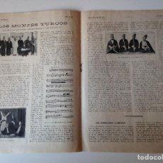 Coleccionismo de Revistas y Periódicos: REPORTAJE REVISTA ORIGINAL 1915. LOS MONJES TURCOS. Lote 85645352