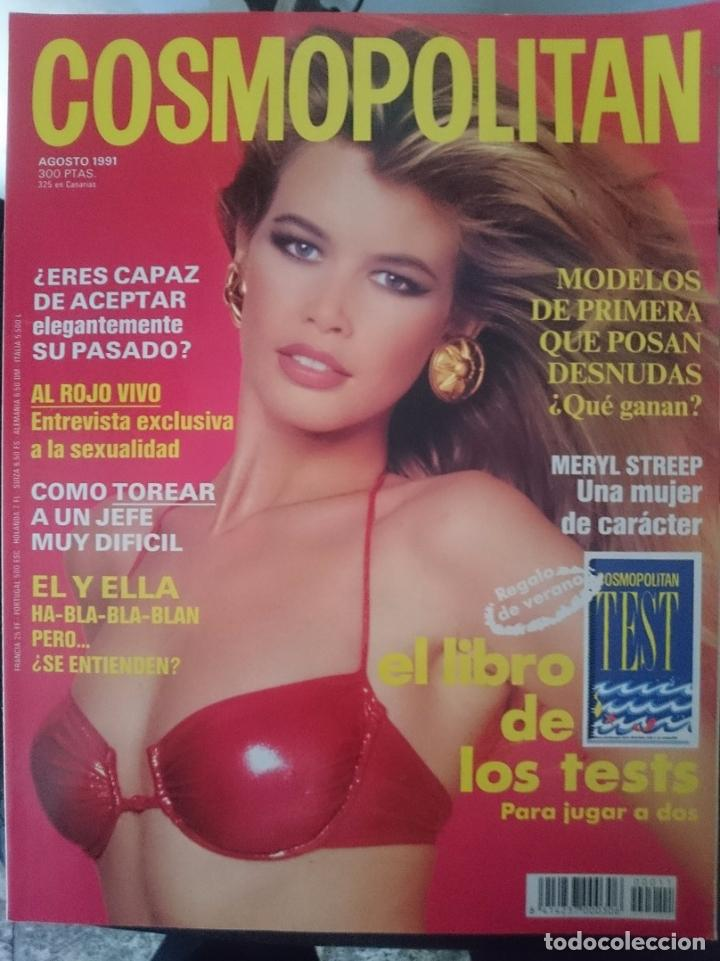 COSMOPOLITAN - AGOSTO 1991 - CLAUDIA SCHIFFER EN PORTADA --REFM1E5DE (Coleccionismo - Revistas y Periódicos Modernos (a partir de 1.940) - Otros)
