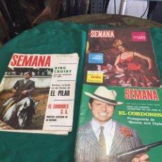 Coleccionismo de Revistas y Periódicos: REVISTAS SEMANA. Lote 85982488