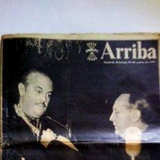 Coleccionismo de Revistas y Periódicos: PERIODICO - ARRIBA - 30 DE ENERO 1955 . FERNANDEZ CUESTA CONDECORA A GIRON .. Lote 86306832