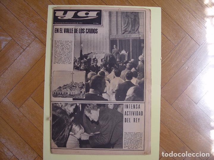 PERIÓDICO YA (25-XI-1975) ENTIERRO FRANCO, VALLE DE LOS CAÍDOS. ¡PERIÓDICO HISTÓRICO! COLECCIONISTA (Coleccionismo - Revistas y Periódicos Modernos (a partir de 1.940) - Otros)