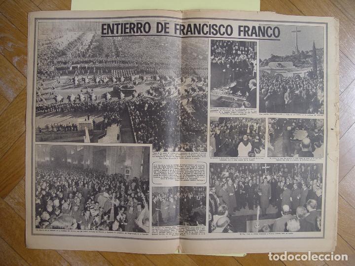 Coleccionismo de Revistas y Periódicos: Periódico YA (25-XI-1975) Entierro Franco, Valle de los Caídos. ¡Periódico histórico! Coleccionista - Foto 3 - 86457380