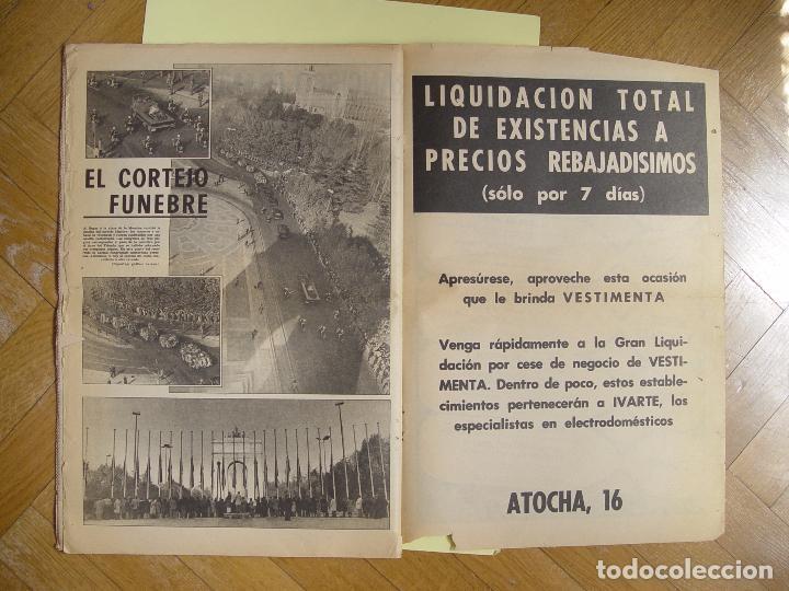 Coleccionismo de Revistas y Periódicos: Periódico YA (25-XI-1975) Entierro Franco, Valle de los Caídos. ¡Periódico histórico! Coleccionista - Foto 4 - 86457380