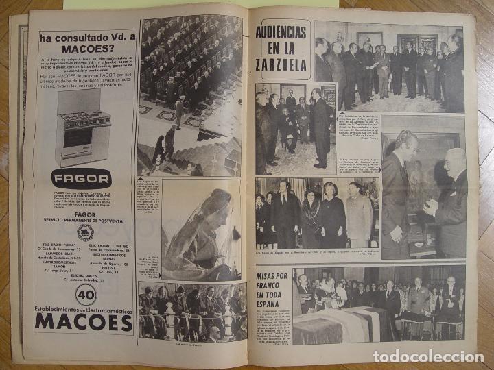 Coleccionismo de Revistas y Periódicos: Periódico YA (25-XI-1975) Entierro Franco, Valle de los Caídos. ¡Periódico histórico! Coleccionista - Foto 5 - 86457380