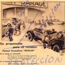 Coleccionismo de Revistas y Periódicos: NEUMATICOS DUNLOP 1928 1 HOJA REVISTA. Lote 86565792