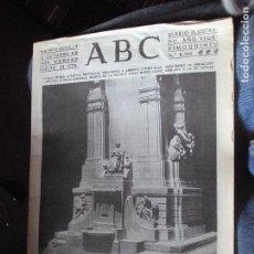 Coleccionismo de Revistas y Periódicos: DIARIO ABC DE SEVILLA.- NUMERO 8360, MADRID-SEVILLA 12 DE OCTUBRE 1929.- FACSIMIL. Lote 86665848