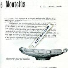 Coleccionismo de Revistas y Periódicos: REVISTA 1958 POBLAT IBERIC DE MONTCLUS MUSEU VICTOR BALAGUER TUNEL DEL TIBIDABO TUNELS VALLVIDRERA. Lote 86699272