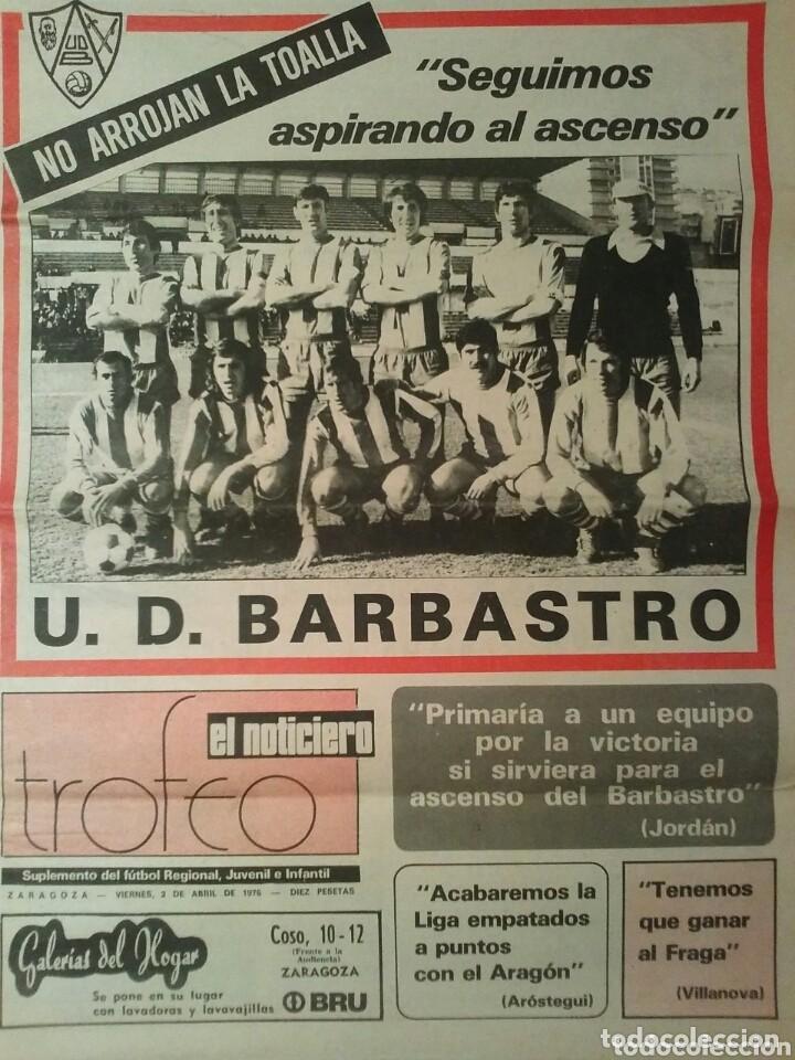 SUPLEMENTO DEPORTIVO U.D. BARBASTRO (Coleccionismo - Revistas y Periódicos Modernos (a partir de 1.940) - Otros)