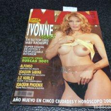 Coleccionismo de Revistas y Periódicos: MAN Nº 159 AÑO 2001, JOAQUIN SABINA. LIZ HURLEY, SILVIA FOMINAYA, POSTER DESPLEGABLE: IVONNE REYES. Lote 86970724