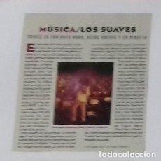 Coleccionismo de Revistas y Periódicos: LOS SUAVES EN RECORTE (RP1) 1 FOTO LA REVISTA DE EL MUNDO 14 ENERO 1996. Lote 86981852