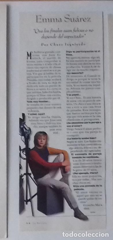 EMMA SUÁREZ EN RECORTE (RP27) 1 FOTO LA REVISTA DE EL MUNDO DE 24 MARZO 1996 (Coleccionismo - Revistas y Periódicos Modernos (a partir de 1.940) - Otros)