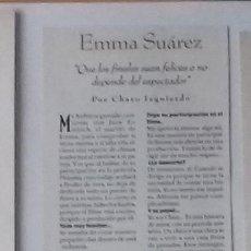 Coleccionismo de Revistas y Periódicos: EMMA SUÁREZ EN RECORTE (RP27) 1 FOTO LA REVISTA DE EL MUNDO DE 24 MARZO 1996. Lote 86985508