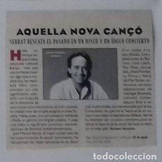 Coleccionismo de Revistas y Periódicos: SERRAT EN RECORTE (RP34) 1 FOTO LA REVISTA DE EL MUNDO DE 21 ABRIL 1996. Lote 86986292