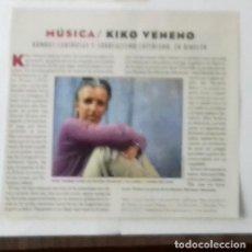 Coleccionismo de Revistas y Periódicos: KIKO VENENO EN RECORTE (RP46) DE LA REVISTA DE EL MUNDO DE 3 DICIEMBRE 1995. Lote 86987956