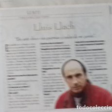 Coleccionismo de Revistas y Periódicos: LLUIS LLACH EN RECORTE (RP55) MEDIA PÁGINA LA REVISTA DE EL MUNDO DE 9 JUNIO 1996. Lote 87080044