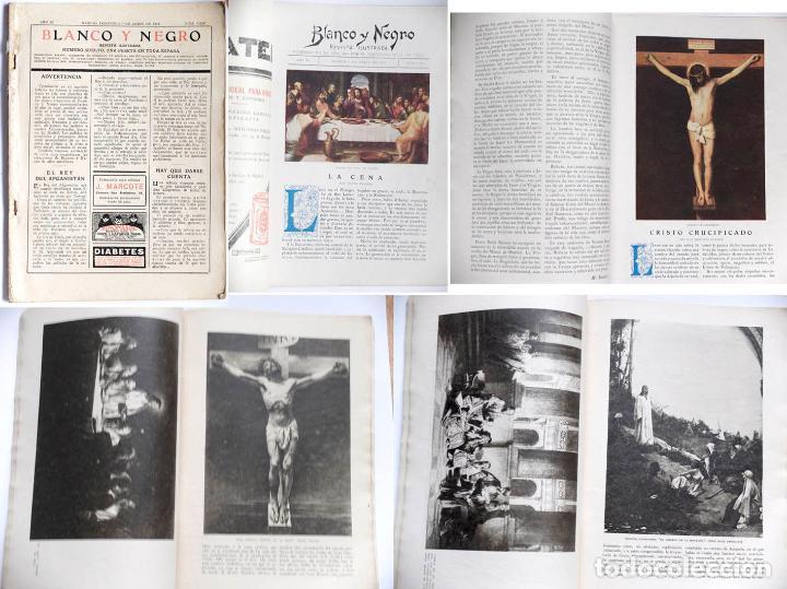 REVISTA ILUSTRADA BLANCO Y NEGRO, FALTA LAS TAPAS DE LA CUBIERTA 1 ABRIL 1928 (Coleccionismo - Revistas y Periódicos Antiguos (hasta 1.939))