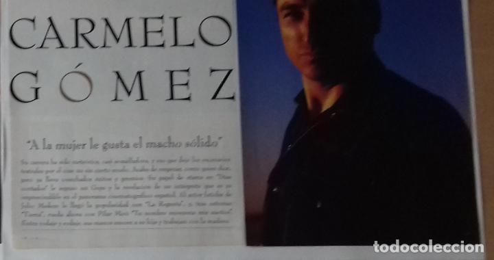 CARMELO GÓMEZ EN RECORTE (RP60) SEIS PÁGINAS LA REVISTA DE EL MUNDO DE 16 JUNIO 1996 (Coleccionismo - Revistas y Periódicos Modernos (a partir de 1.940) - Otros)