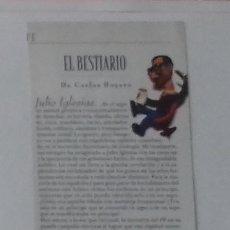 Coleccionismo de Revistas y Periódicos: JULIO IGLESIAS EN RECORTE (RP83) MEDIA PÁGINA LA REVISTA DE EL MUNDO DE 24 MARZO 1996. Lote 87104292