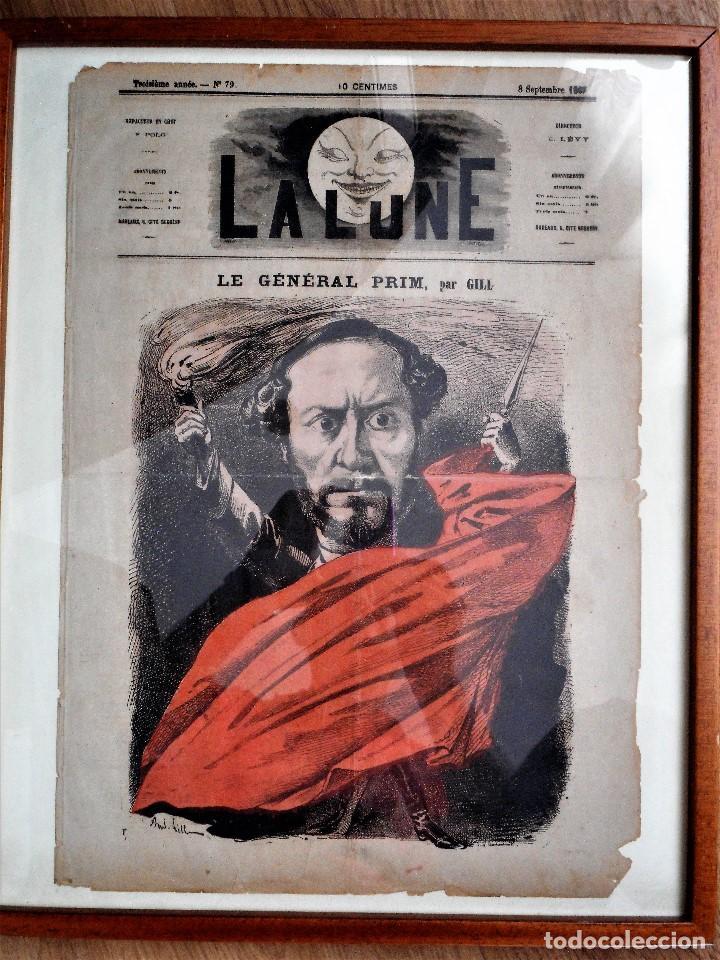 LA LUNE Nº 79 - 8 SEPTIEMBRE 1867 - PORTADA EL GENERAL PRIM - 33 X 47 CM (Coleccionismo - Revistas y Periódicos Antiguos (hasta 1.939))