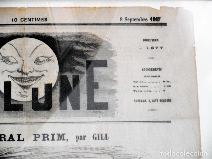Coleccionismo de Revistas y Periódicos: LA LUNE Nº 79 - 8 SEPTIEMBRE 1867 - PORTADA EL GENERAL PRIM - 33 X 47 CM - Foto 4 - 87142824