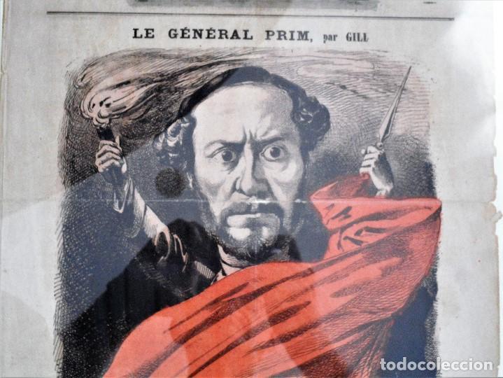 Coleccionismo de Revistas y Periódicos: LA LUNE Nº 79 - 8 SEPTIEMBRE 1867 - PORTADA EL GENERAL PRIM - 33 X 47 CM - Foto 5 - 87142824