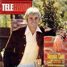 Coleccionismo de Revistas y Periódicos: TELERADIO. REVISTA TELE RADIO N. 786. 19/01/1973. DENNIS COLE. . Lote 87175392