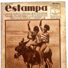 Coleccionismo de Revistas y Periódicos: ESTAMPA, REVISTA GRÁFICA Y LITERARIA. 13 DE AGOSTO DE 1929, N.º 83. Lote 87180644