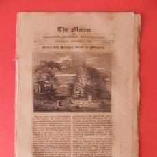 Coleccionismo de Revistas y Periódicos: ANTIGUA REVISTA EN INGLÉS. THE MIRROR. GRABADO TALAYOT Y TAULA DE MENORCA. AÑO 1823.. Lote 87226780
