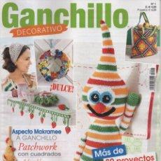 Coleccionismo de Revistas y Periódicos: GANCHILLO DECORATIVO N. 1 (NUEVA). Lote 87239648