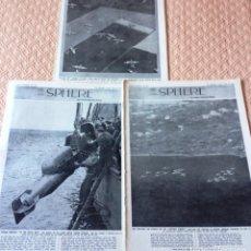 Coleccionismo de Revistas y Periódicos: THE SPHERE- 3 REVISTAS DE 1944- GUERRA MUNDIAL- EN INGLES-. Lote 87268312
