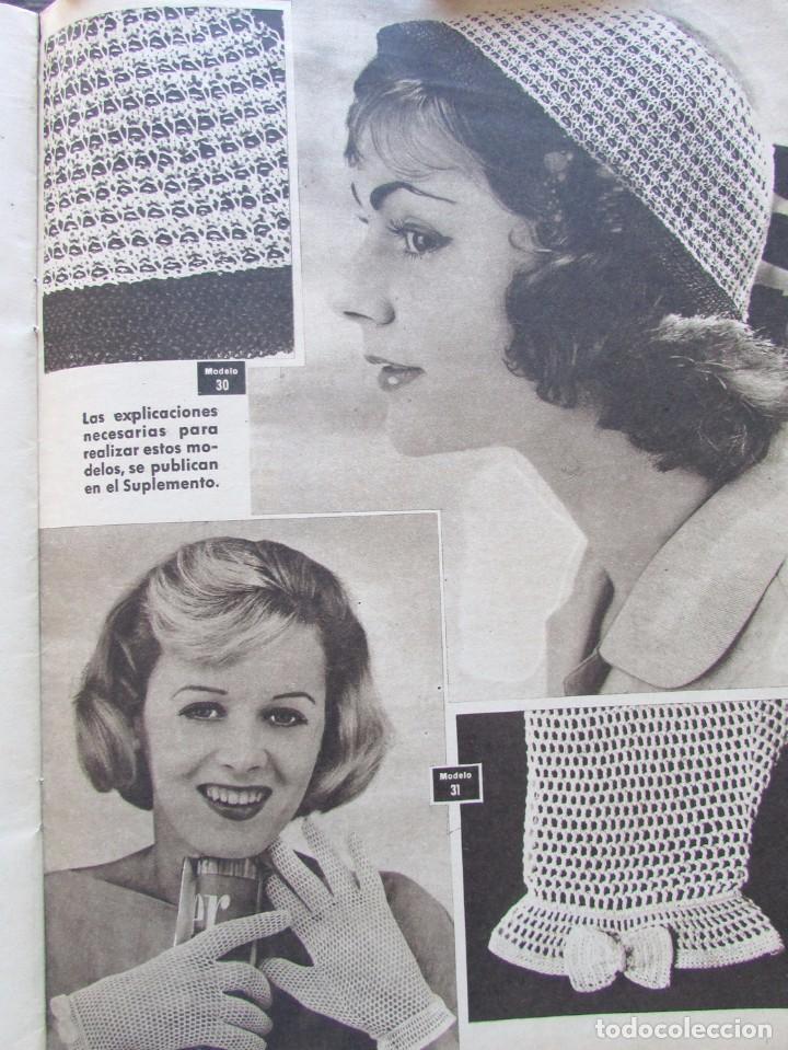 Labores del hogar 35 1958 encaje ganchillo bo comprar - Labores de punto de media ...