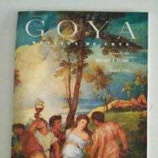 Coleccionismo de Revistas y Periódicos: REVISTA DE ARTE GOYA N. 135 MADRID 1976. Lote 87318242