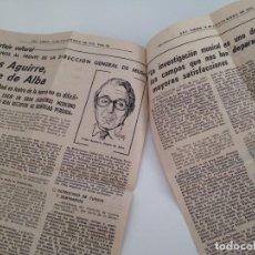 Coleccionismo de Revistas y Periódicos: ENTREVISTA PRENSA ORIGINAL 1979. JESUS AGUIRRE, DUQUE DE ALBA. Lote 87361196