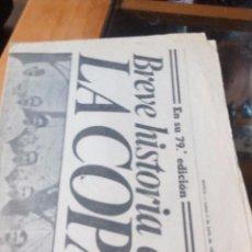 Coleccionismo de Revistas y Periódicos: BREVE HISTORIA DE LA COPA - MARCA LUNES 2 DE JUNIO DE 1980 - PAGINAS 17 A 20. Lote 87386596