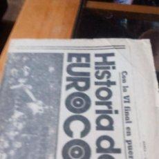 Coleccionismo de Revistas y Periódicos: HISTORIA DE LA EUROCOPA - MARCA LUNES 9 DE JUNIO DE 1980 - PAGINAS 15 A 18. Lote 87386608