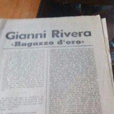 Coleccionismo de Revistas y Periódicos: GIANNI RIVERA RAGAZZO D'ORO - MARCA PAGINAS DE LA 1 A LA 8. Lote 87386652