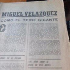 Coleccionismo de Revistas y Periódicos: MIGUEL VELAZQUEZ - MARCA PAGINAS DE LA 1 A LA 8. Lote 87386664