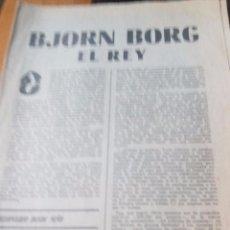 Coleccionismo de Revistas y Periódicos: BJORN BORG EL REY - MARCA PAGINAS DE LA 1 A LA 8. Lote 87386676