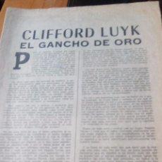 Coleccionismo de Revistas y Periódicos: CLIFFORD LUIK EL GANCHO DE ORO - MARCA PAGINAS DE LA 1 A LA 8. Lote 87386684