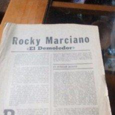 Coleccionismo de Revistas y Periódicos: ROCKY MARCIANO EL DEMOLEDOR - MARCA PAGINAS DE LA 1 A LA 8. Lote 96102454