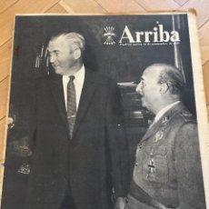 Coleccionismo de Revistas y Periódicos: DIARIO ARRIBA 12 NOVIEMBRE 1959 JAMES STEWART FRANCO EN EL PARDO EISENHOWER. Lote 87545636