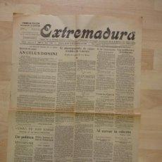 Coleccionismo de Revistas y Periódicos: PERIODICO EXTREMADURA, 18 DE NOVIEMBRE DE 1926, 2 HOJAS, RARISIMO. Lote 87850108