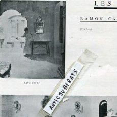Coleccionismo de Revistas y Periódicos: REVISTA 1924 RAMON CASAS PINTA SANT BENET SANTIAGO RUSIÑOL VENTURA GASSOL DARIUS VILAS CAMPRODON . Lote 87965888