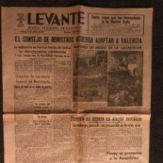 """Coleccionismo de Revistas y Periódicos: LEVANTE """"DIARIO REGIONAL DE VALENCIA """" 19 OCT.1957. Lote 88091919"""