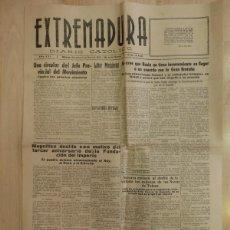 Coleccionismo de Revistas y Periódicos: PERIODICO EXTREMADURA, GUERRA CIVIL, 10 DE MAYO DE 1939,4 PAGINAS. Lote 88109116