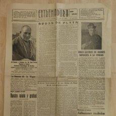 Coleccionismo de Revistas y Periódicos: PERIODICO EXTREMADURA, 2 DE ABRIL DE 1948, 4 HOJAS, RARISIMO. Lote 88281776